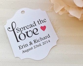 Wedding Favor Thank You Tags - Spread The Love - Jam Jelly Wedding Favor Tags - Bridal Shower Thank You Tags - Baby Shower Favor Tags WT-008