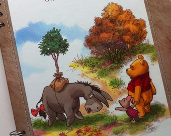 Winnie the Pooh One Special Tree Recycled Book Journal Notebook Disney's Wonderful World of Reading
