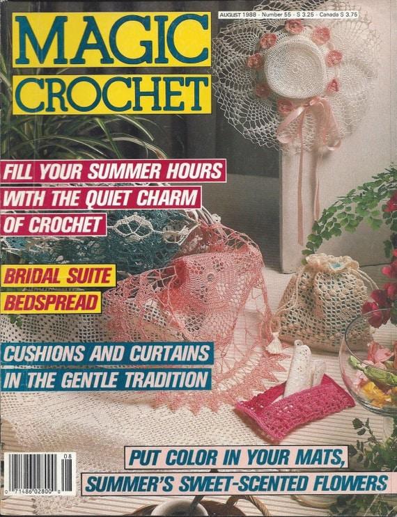 Magic Crochet Magazine : Magic Crochet Magazine - August 1988 - Issue 55 - Crochet Pattern Book ...