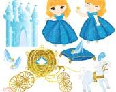 Cinderella2 Clip Art Set