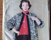 Vintage 1950 Stitchcraft magazine with knitting patterns and other crafts.  knitting, crochet  mans lumber jacket