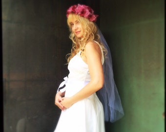 Wedding headpiece flower wedding headband crown tiara in red pink