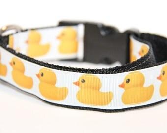 Rubber Ducky Dog Collar, duck collar, FREE SHIPPING