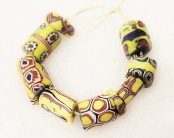 Antique African Trade Beads ,venetian Millefiori Beads,unique African Glass Beads (c39)