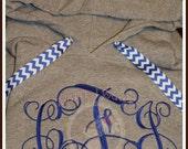 Monogrammed Hoodie With Ribbon Ties