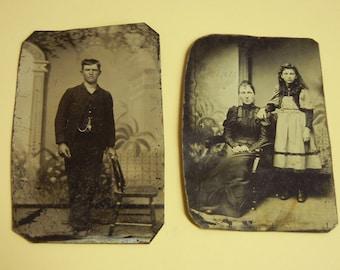 2 Victorian Tintypes