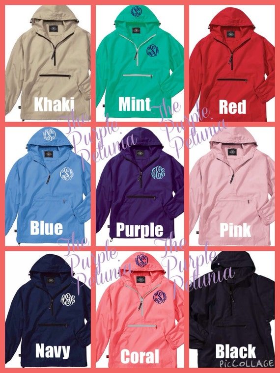 Rain Coat Jacket Pullover Windbreaker Womens Personalized