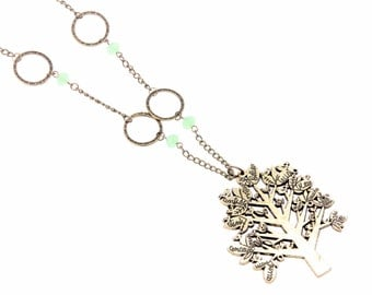 """Necklace """"tree of words"""""""