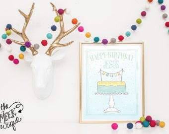 INSTANT DOWNLOAD, Happy Birthday Jesus Printable, No. 229