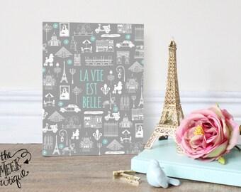 INSTANT DOWNLOAD, La Vie Est Belle, Life Is Beautiful, Paris, France, No. 429
