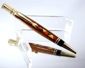 Handmade Wood Pen - Ballpoint Pen Executive in Segmented Wood 24K Gold Plating, Handcrafted Wooden Pen, Pen Gift, Pen, Handturned Pen