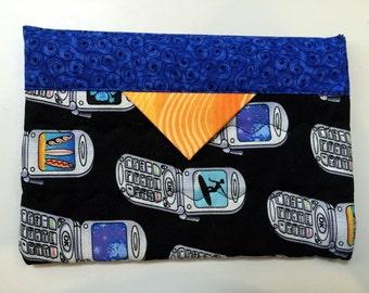 Snap Bag – Cell Phone Print Fabric