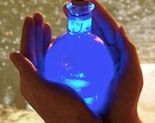 Fairy Dust Bottle, Really Lights Up, Fairy in a Bottle in Blue