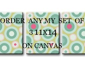 Order any of my Print on canvas set of 3 11X14 Gallery Wrapped Baby Nursery Decor Kid Art Kids Wall Art Nursery Art Print on canvas Baby Art