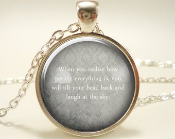 Personalized Text Necklace, Custom Quote Jewelry, Gift Idea (1807S1IN)