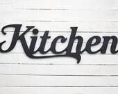 Voir wooden letters words par botanikastudio sur etsy - Lettre decorative cuisine ...