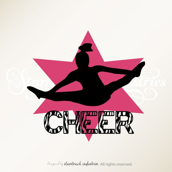 Cheerleader Wall Decal Cheer Star Zebra By - cheer bow wall decoration designs