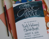 Save the Date Watercolor Wedding Announcement