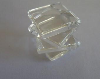 10 x 16mm square flat tiles for earrings