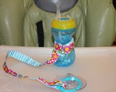Sippy Cup Leash   Sippy Strap   Sippy Cup Strap Suction Cup   Bottle Tether   Sippy Cup Strap   Suction Sippy Strap   Peace Aqua Chevron