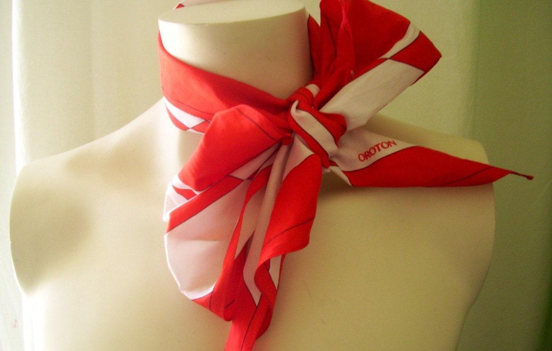 silk scarf oroton 1970s designer necktie luxury