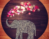 elephant string art nursery decor