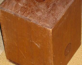 Primitive Ballot Box w Sliding Lid Voting Box Antique Handmade Wooden Sliding Box