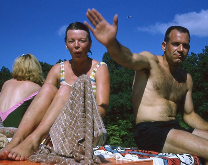 35 mm Slide/Transparency, 1965: Swimmers, Airplane