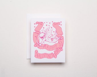 Happy Valentine's Day Card - Letterpress Holiday Card