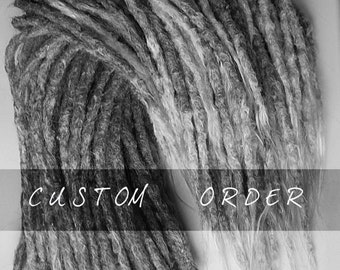 20 long permanent dreadlock extensions (16 inches)
