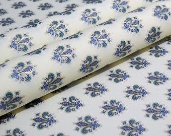 Rossi Traditional Florentine Style Paper - Blue Fleur de Lis