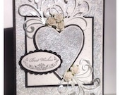 Embossed Wedding/Silver Anniversary Card