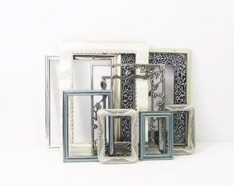 Silver Picture Frames - Set of 8 - Elegant Vintage Wedding
