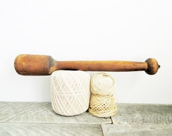 Vintage Wooden Pestle - Farmhouse Chic - Rustic Kitchen