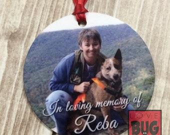 Pet memory photo ornament