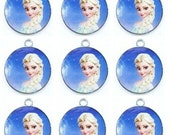 Wholesale Free shipping New 20pcs Frozen Princess Elsa Metal Charm Pendants DIY Jewelry Making
