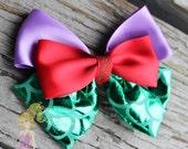 Ariel Hair bow The Little Mermaid hair bow Ariel hair clip mermaid scales