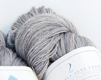 Birchbark -- Curiously Luxe Lace (80/20 BFL & silk)