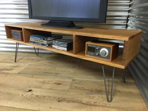 Mid Century Modern Tv Stand Entertainment Console Quartersawn