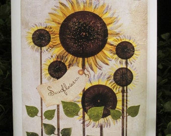 Sunflower Helen Keller Quote Everyday Card - FREE SHIPPING