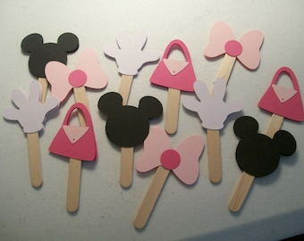 Minnie Mouse Cupcake Toppers - Minnie Mouse Birthday