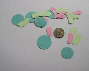 Pool Party Confetti- Flip Flop Table Confetti - Beach Barty Confetti-