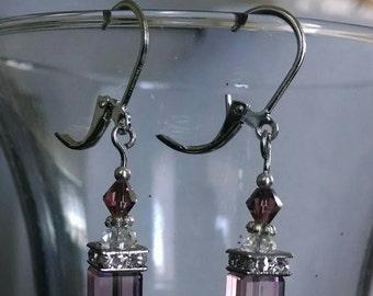 Squared Rose Earring