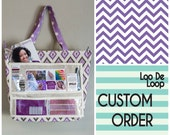 CUSTOM ORDER for Kathryn - The Show Off Tote - Purple Chevron