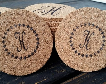 Bulk Cork Coasters, Personalized Bulk Cork Coaster for Wedding Receptions