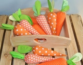 Set of 5 fabric carrots, Easter decoration, photo props