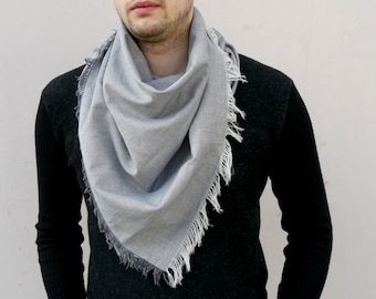 Men Scarf / Square Scarf / Cotton Scarf / Unsex Square Cotton Scarf / Gift For Boyfriend / Best Men Gift
