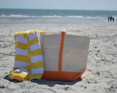 Monogram Zip Closed Large Beach Bag/ Pool Bag/ Pool Tote/ everyday Tote/ BOAT TOTE-sale