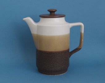 Tall teapot retro coffee pot stoneware made in Japan 1970s