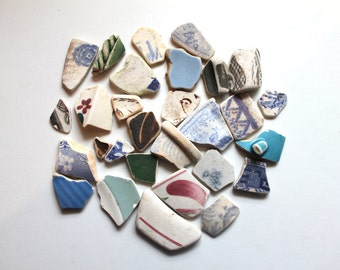 Scottish beach pottery sea glass china sea finds vintage sea beads terracotta jewelry supplies art&craft supply